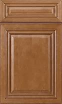 Cinnamon Glazed Cabinets