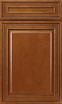 Mocha Glazed Cabinets