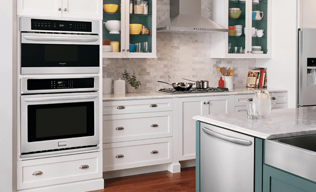 Countertop microwave oven on a shelf above your oven the best landing space and microwave drawer