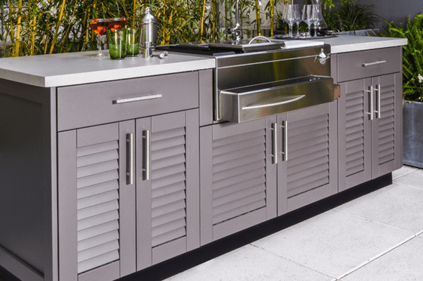 Beautiful living space and items for outdoor kitchen design ideas including pizza ovens