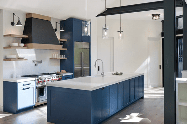 Go Ultra Modern with this deep blue paint style