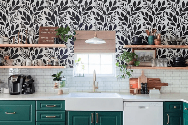 Check out the cabinets green in the 2021 trend