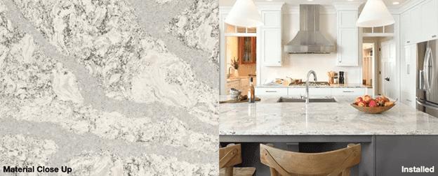 Cambria Brittanicca Warm designs are beautiful than granite countertops