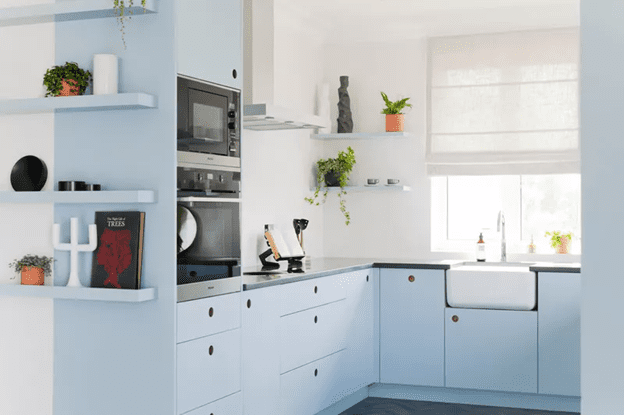 Light and Airy blue kitchen Design which is trendy in 2021