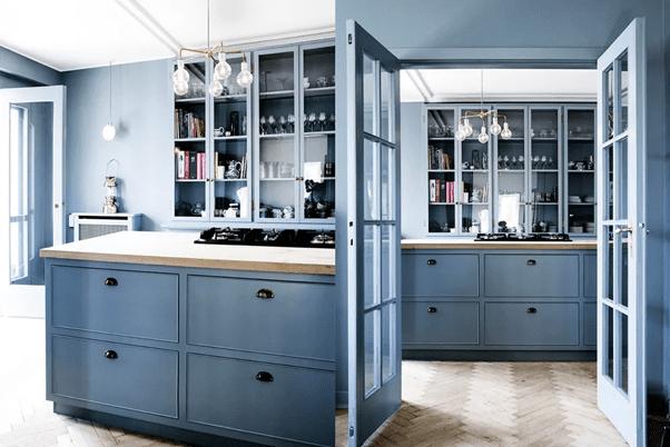 Blue Kitchen Cabinets - Kitchen Renovation