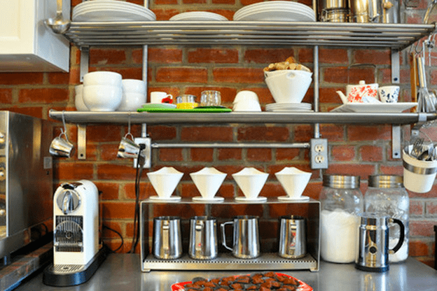 Nontraditional home coffee stations with coffee essentials