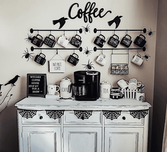 Cozy home coffee station best for morning routine