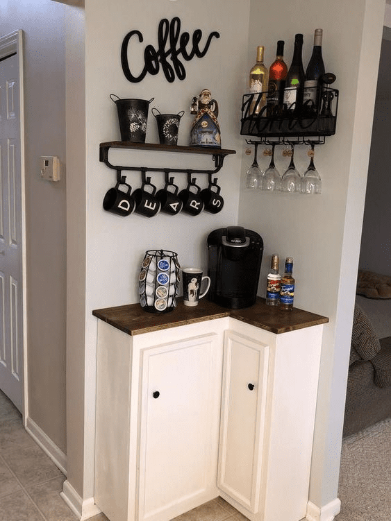 Mini beverage station and a coffee bar