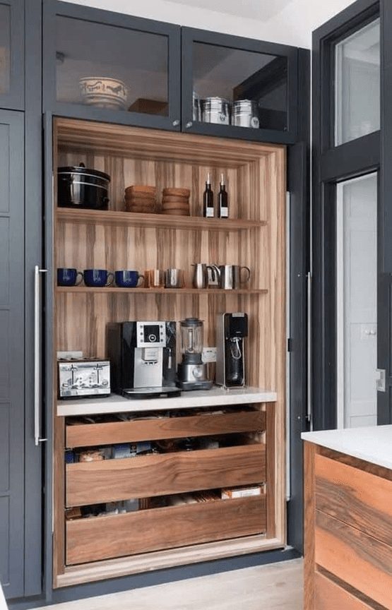 home decor ideas with coffee shop and coffee pods