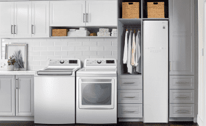 The page to help users to get more laundry room ideas and cabinets