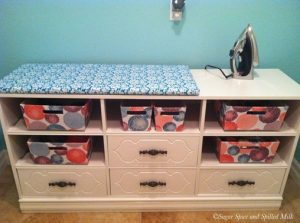 Add a dresser on the tale in your laundry room, Getty images