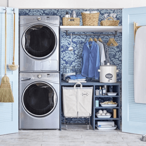 Complete the look of the craft room and laundry room with a washer to show people the classic laundry room