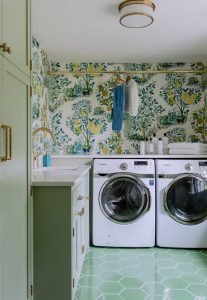back kitchen laundry room ideas for walls painting, washer dryer adjustment, and hanging rack