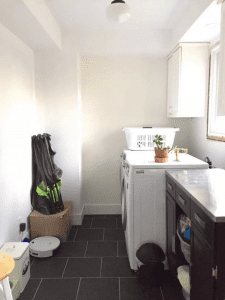 Laundry room design before painting and laundry baskets tips