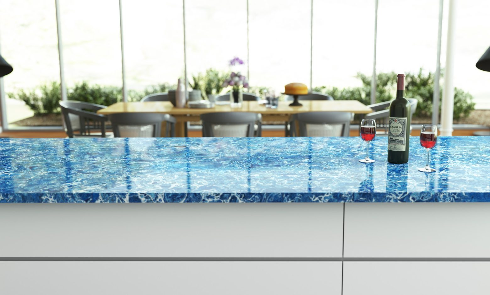 Blue Quartz Countertops - Skye