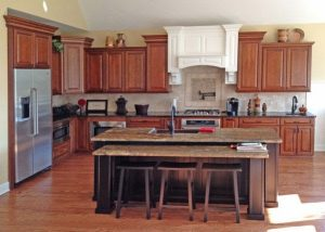 The Accessible kitchen design with enough kitchen space is best for wheelchair users having wall oven and toe space.