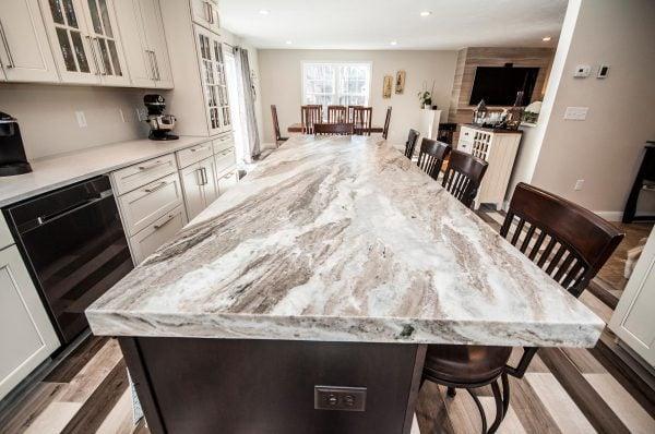 Brown Fantasy Granite Kitchen Island