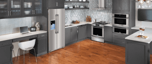 Best Kitchen design or workspace for family members with toe clearance.