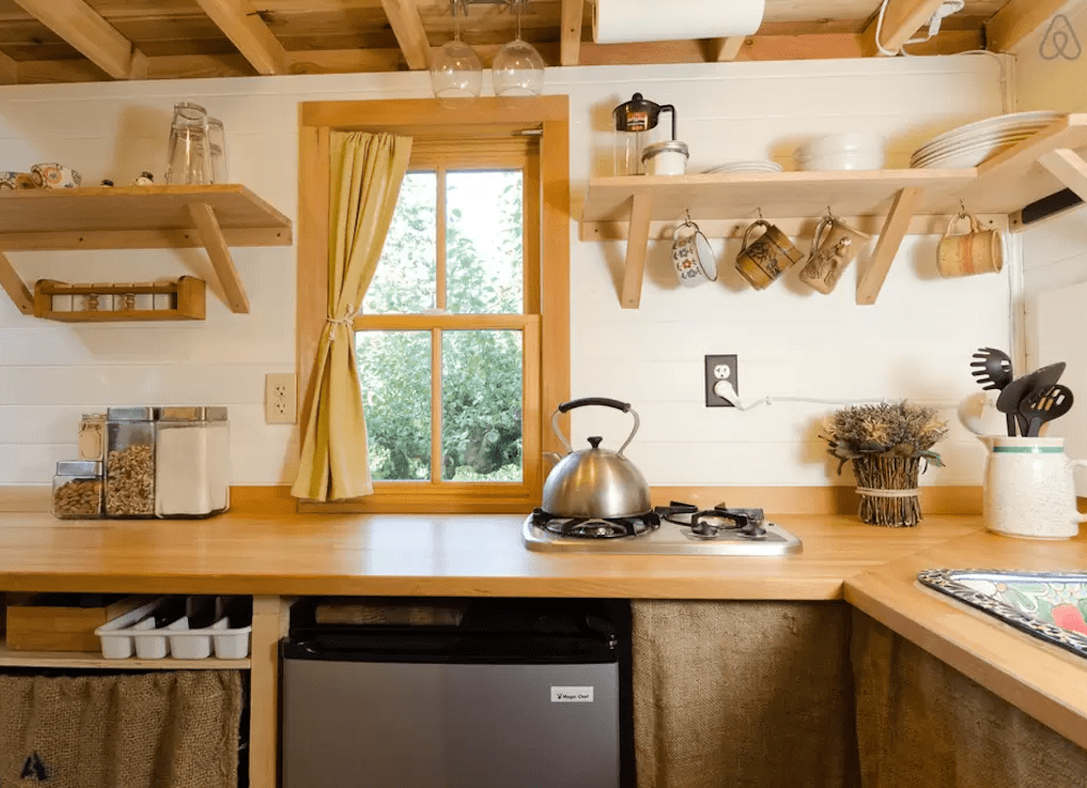 Tiny Home Cabinets maximize space in a small kitchen